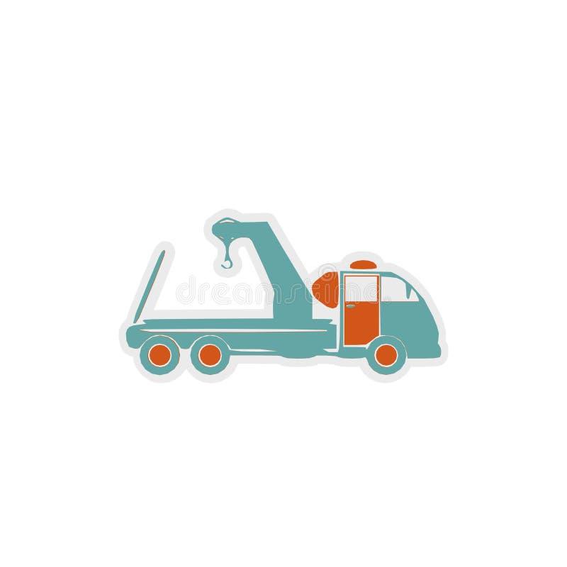 Bogsera lastbilsymbolen, tecken, bästa illustration 3D royaltyfri illustrationer