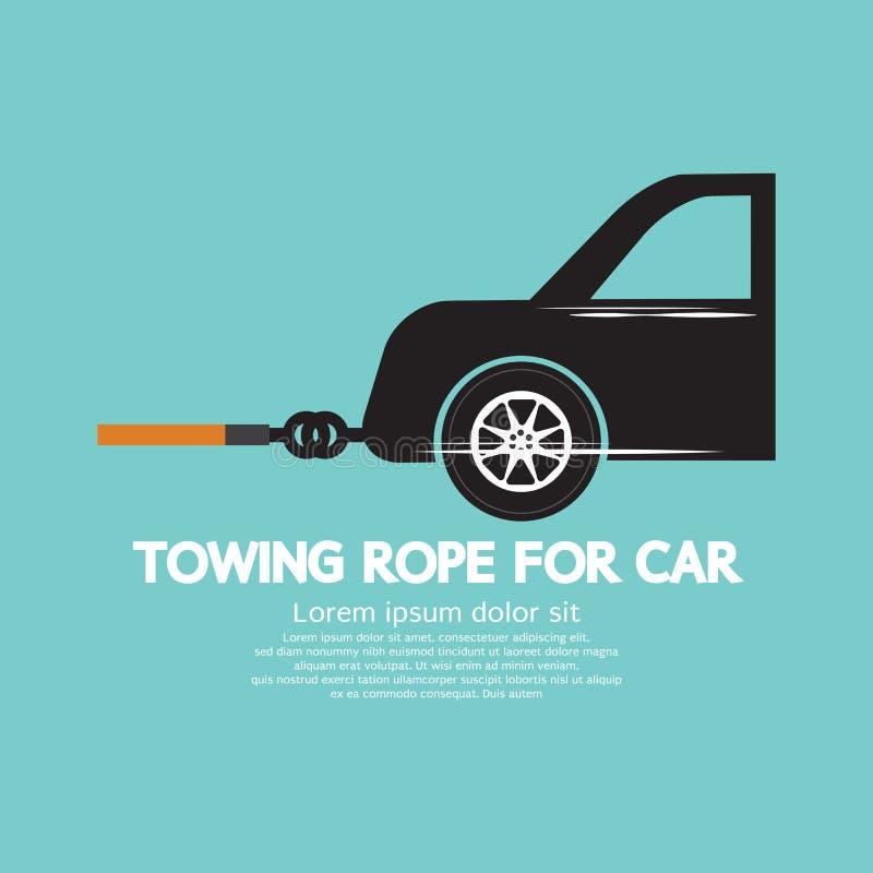 Bogsera repet för bil vektor illustrationer