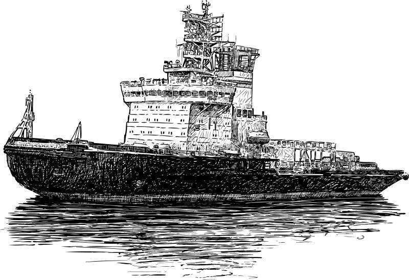 Bogserbåt royaltyfri illustrationer