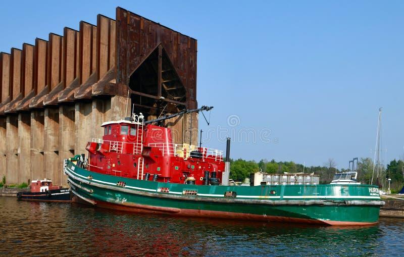Bogserbåt Huron arkivfoton