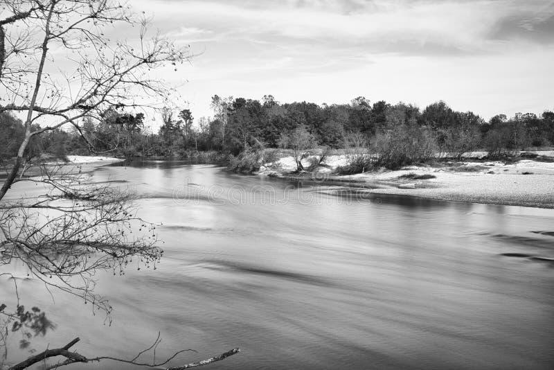 BogueChitto flod nära Franklinton, Louisiana arkivbilder