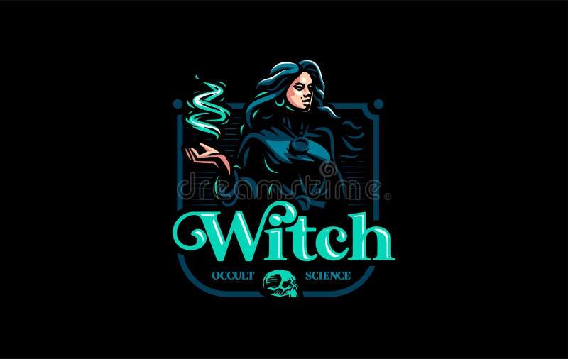 Bohémienne de sorcière avec les cheveux débordants illustration de vecteur