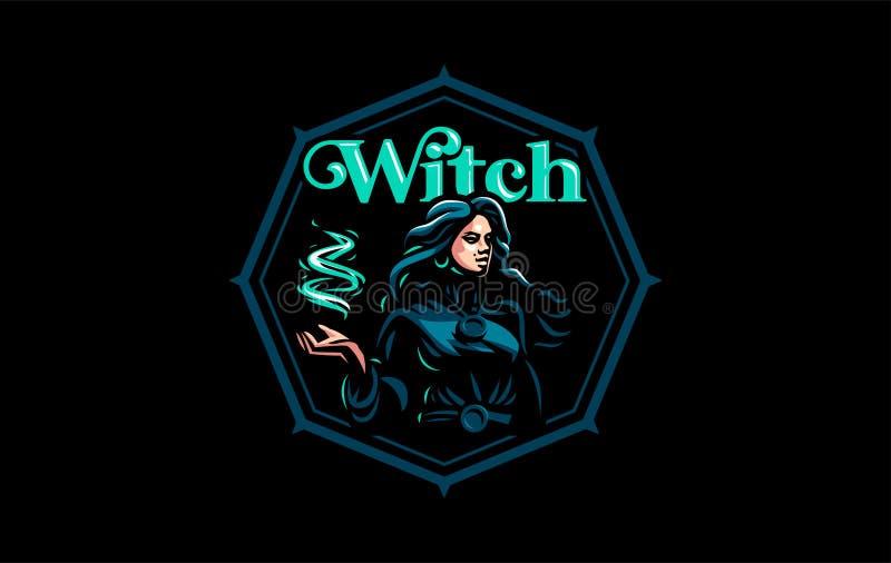 Bohémienne de sorcière avec les cheveux débordants illustration libre de droits