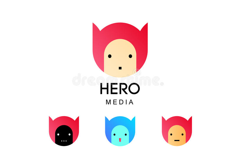 Bohaterów środki ilustracja wektor