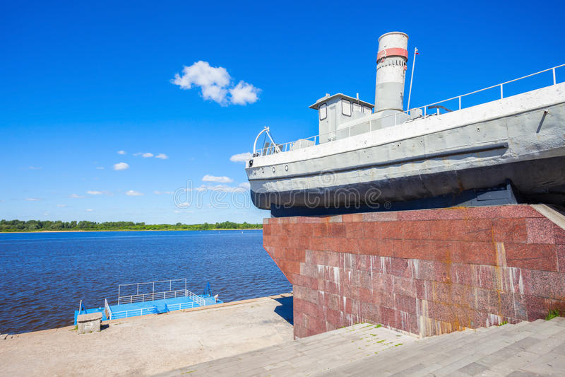 Bohater łódź, Nizhny Novgorod obrazy stock