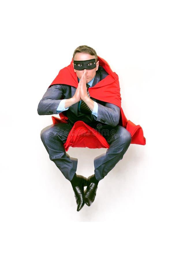 Bohater w czerwonym przylądku i masce zdjęcia royalty free