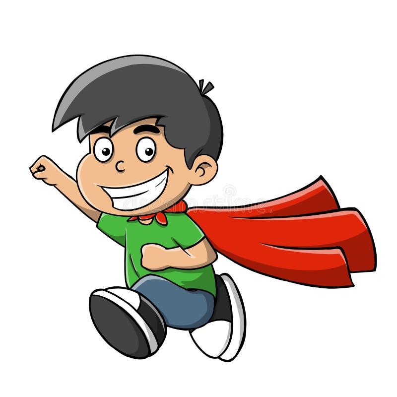Bohatera dzieciak ilustracja wektor