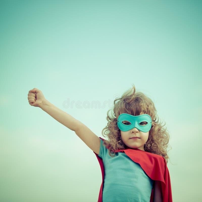 Bohatera dzieciak obraz royalty free