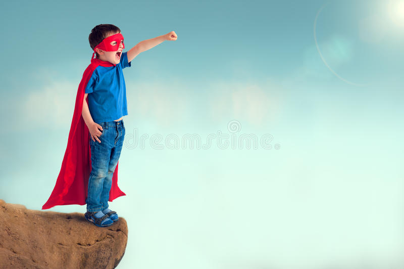 Bohatera dziecko zdjęcia stock
