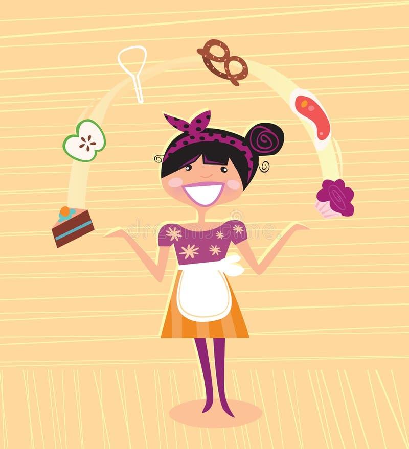 bohatera kuchni matka super royalty ilustracja