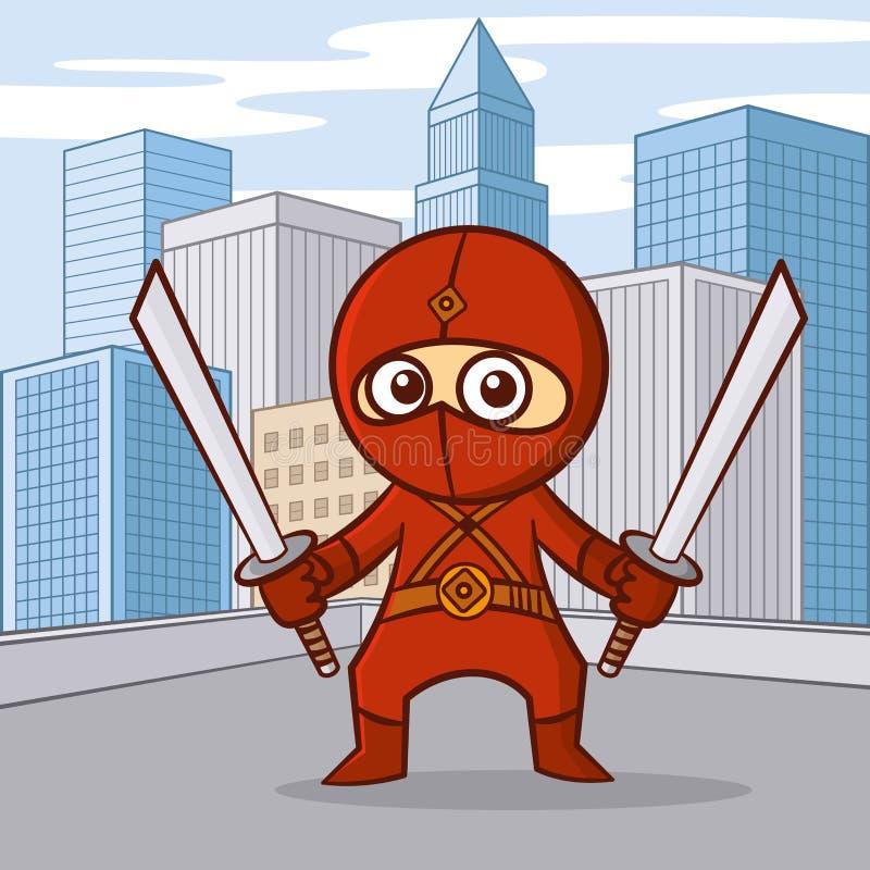 Bohatera postać z kreskówki ilustracji