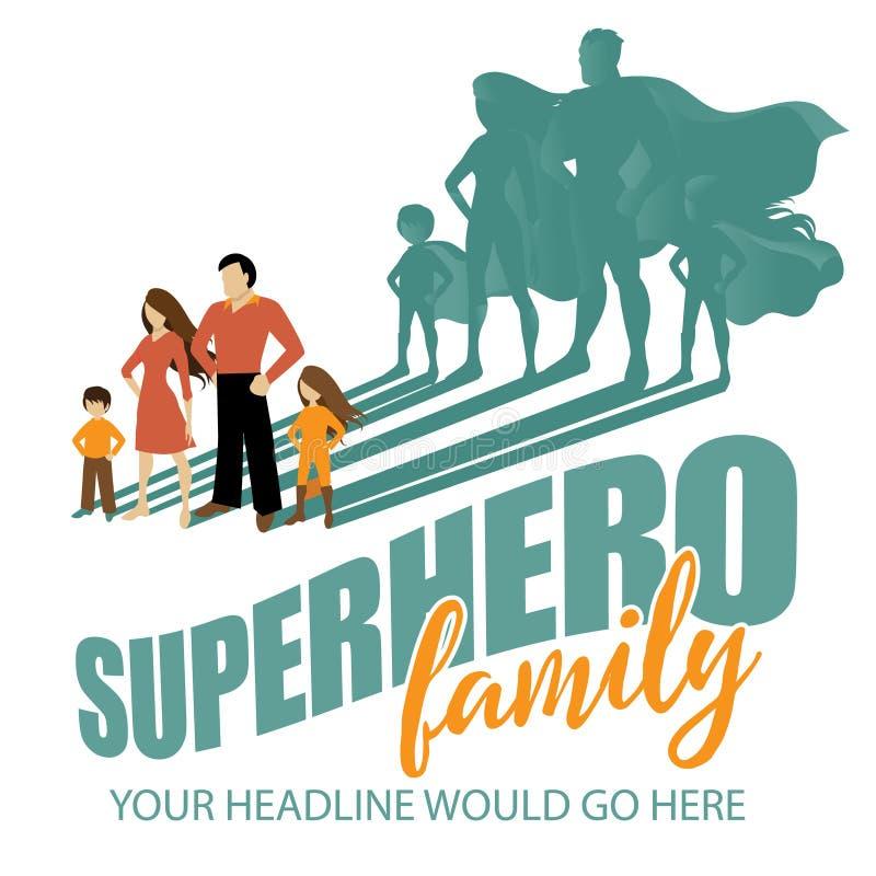Bohatera Rodzinny tło royalty ilustracja