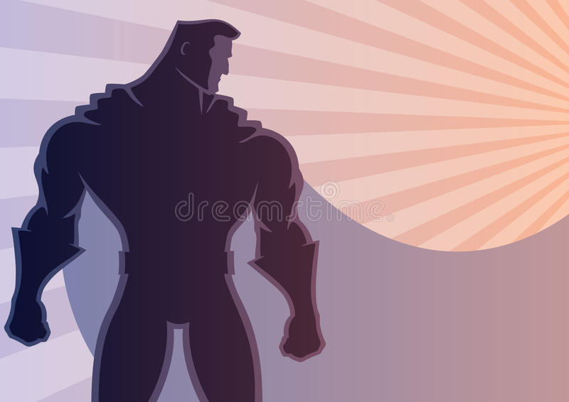 Bohatera tło 2 royalty ilustracja
