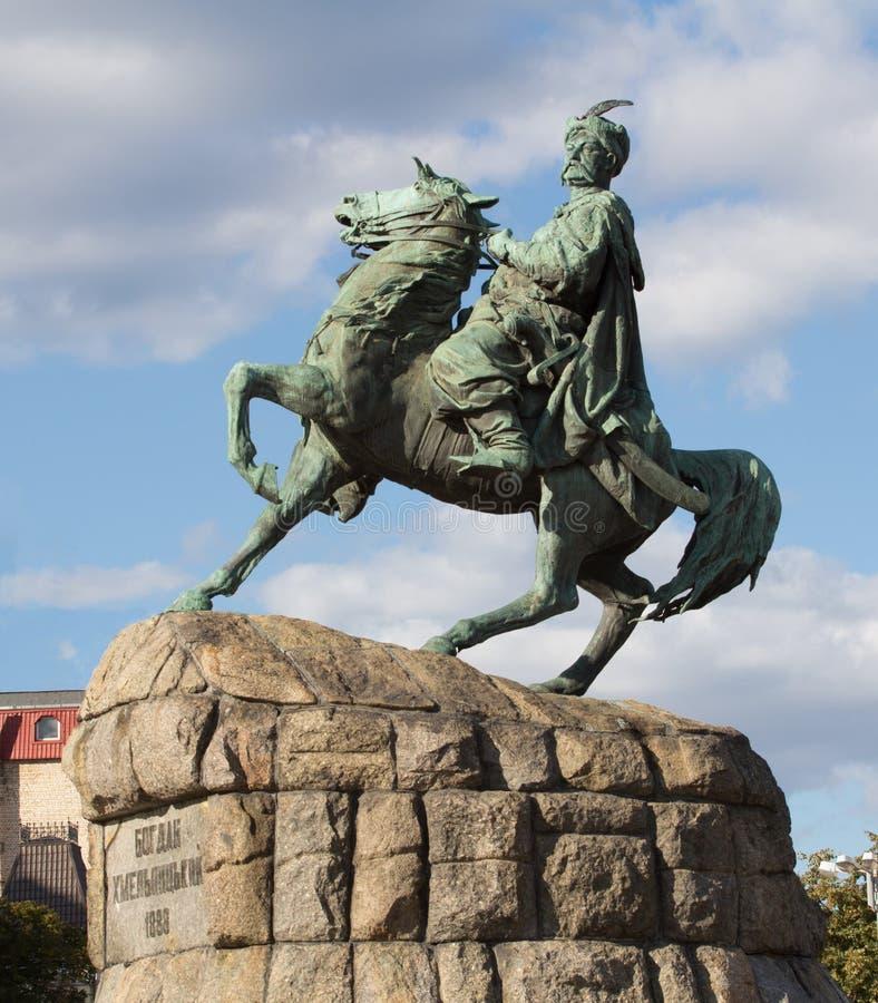 bohdan khmelnytsky μνημείο στοκ εικόνες