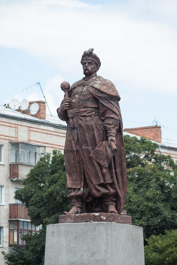 Bohdan Khmelnytsky monument stock photography