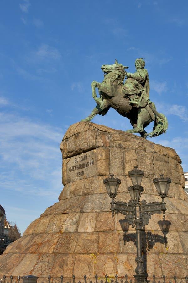 Bohdan Khmelnytsky monument in Kiev, Ukraine. stock photo