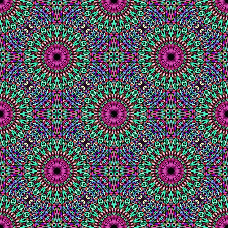 Boheems abstract geometrisch van het mandalapatroon art. als achtergrond stock illustratie