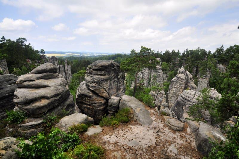 Boheems paradijs (Prachovske skaly) stock foto's