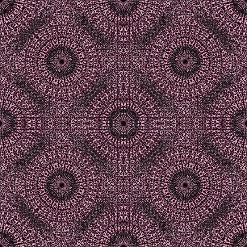 Boheems roze abstract van het het ornamentpatroon van tuinmandala art. als achtergrond royalty-vrije illustratie