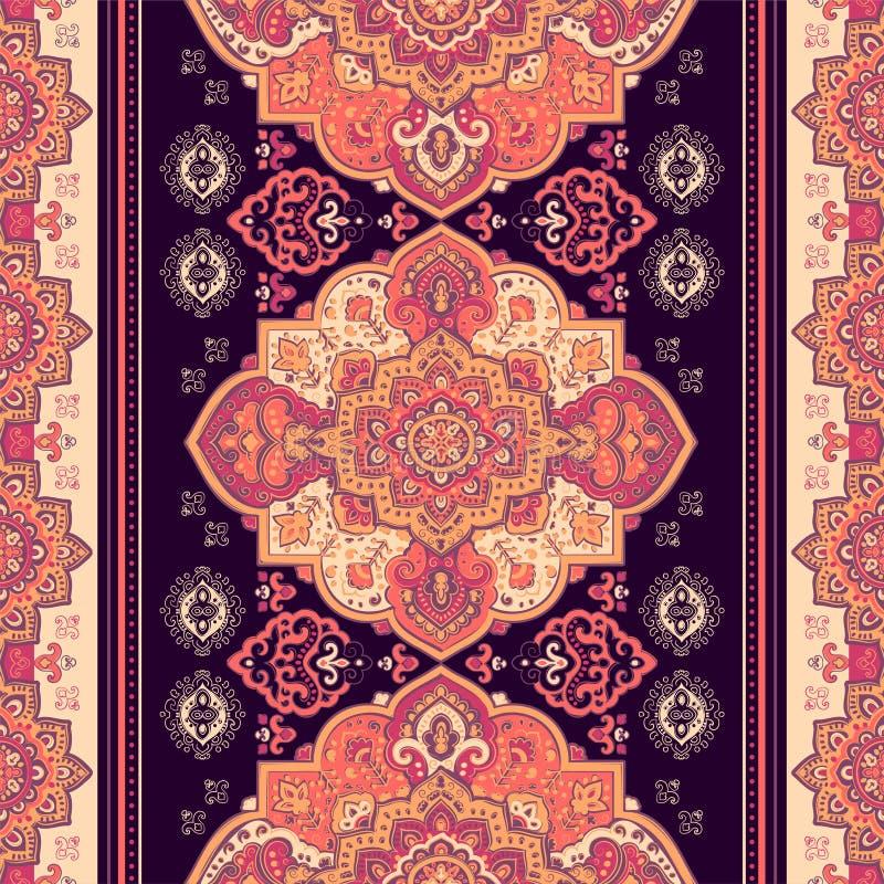 Boheemse Indische Mandala-druk De uitstekende stijl van de Hennatatoegering vector illustratie