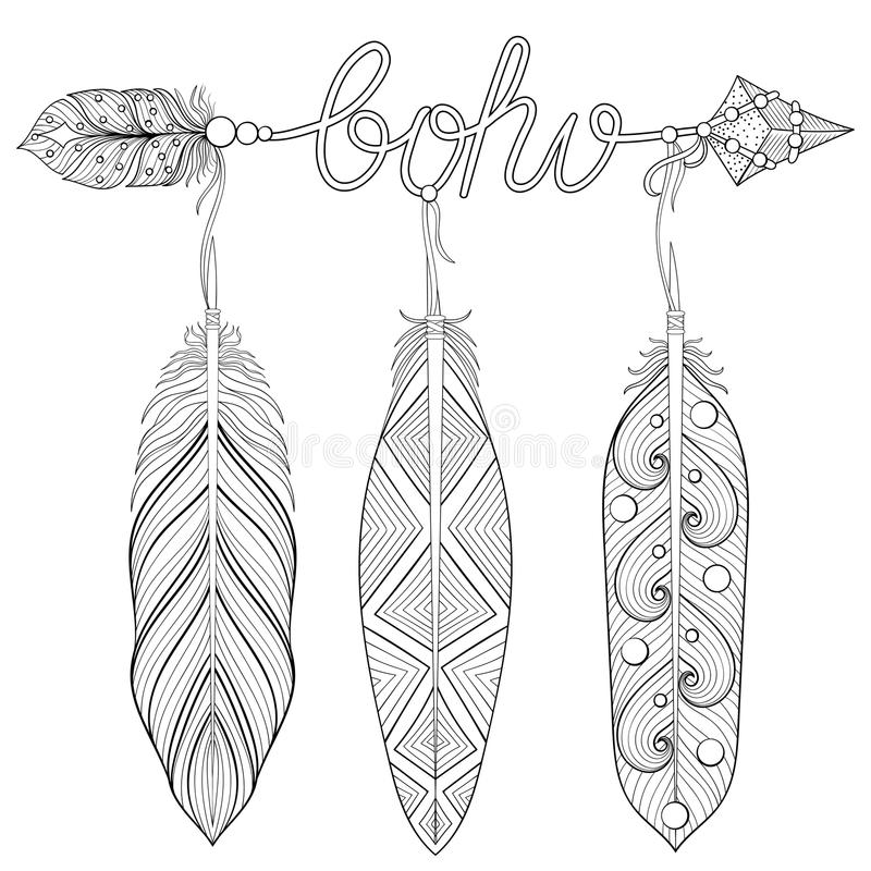 Printable Feathers Coloring Page Bookmarks for Adults, PDF / JPG ... | 800x800