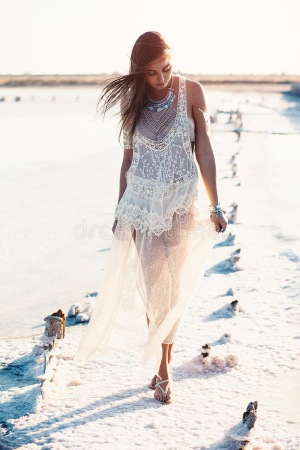 Bohemian chic style stock images