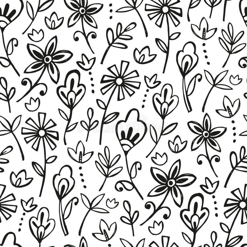 Bohemian floran pattern royalty free stock photography