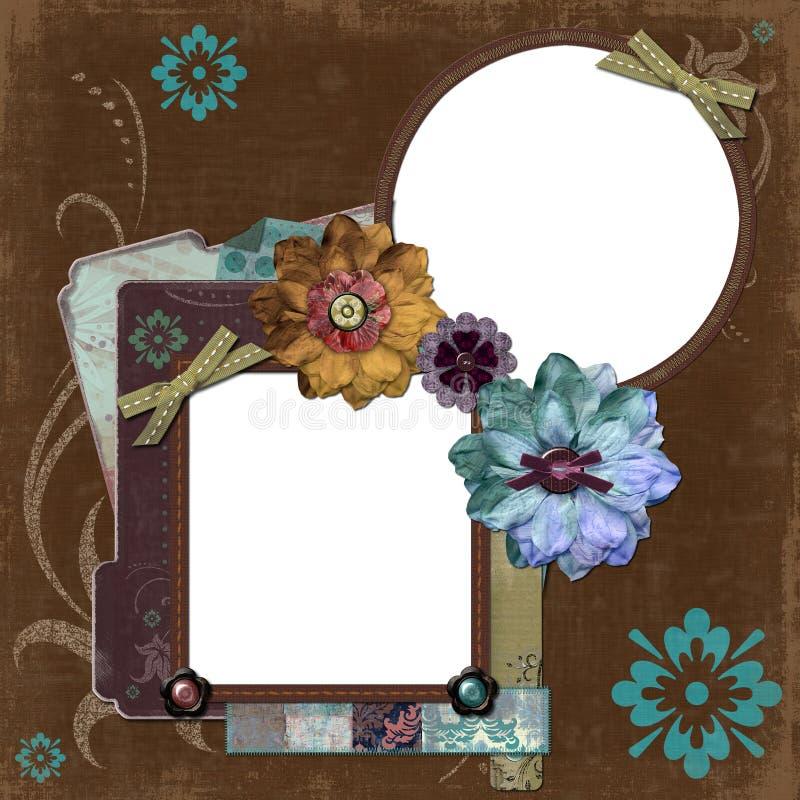 Bohemian Gypsy Floral Frame stock illustration