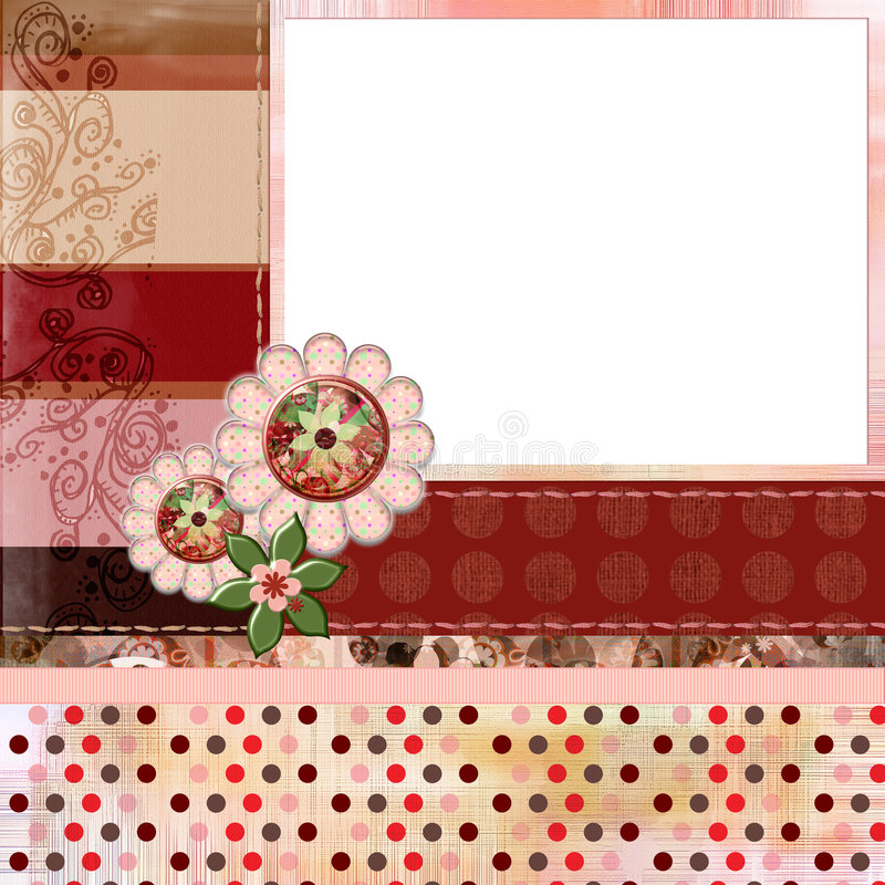 Free Bohemian Gypsy Style Scrapbook Album Page Layout 8x8 Inches Royalty Free Stock Photography - 844747