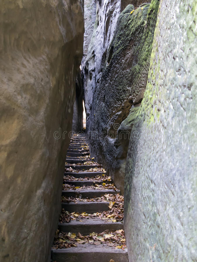 Free Bohemian Paradise - Rocks Stair - Narrow Path Stock Photography - 32340052