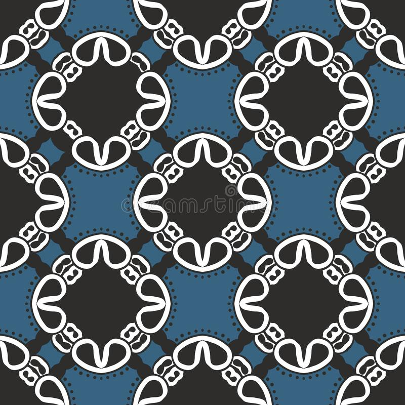 Bohemian print with ethnic and tribal motif stock illustration