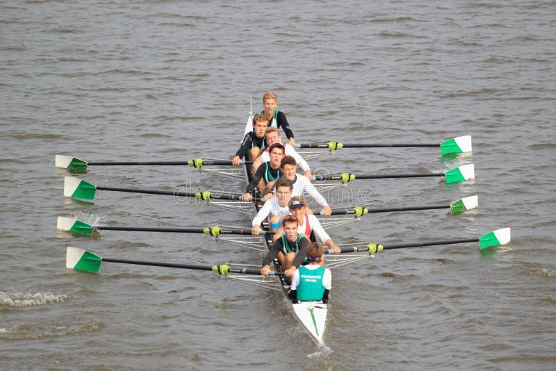 Bohemians Prague eight - 100th Primatorky rowing race royalty free stock photo