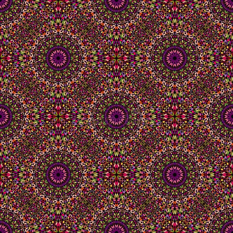 Bohemisk färgrik geometrisk bakgrund för blommamandalamodell stock illustrationer