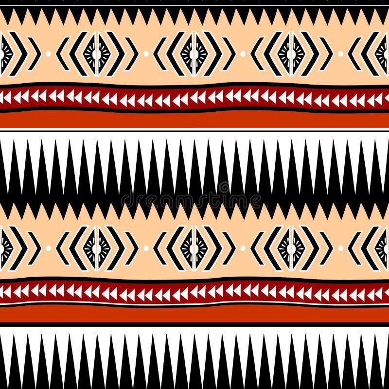 Bohemisk stam- sömlös modell med abstrakt begrepp för etnisk bakgrund för hand utdraget färgrikt moderiktigt för modetextiltryck  vektor illustrationer