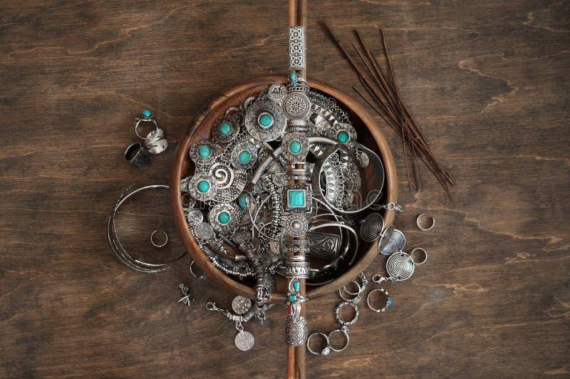 Bohemiska chic smycken royaltyfri bild