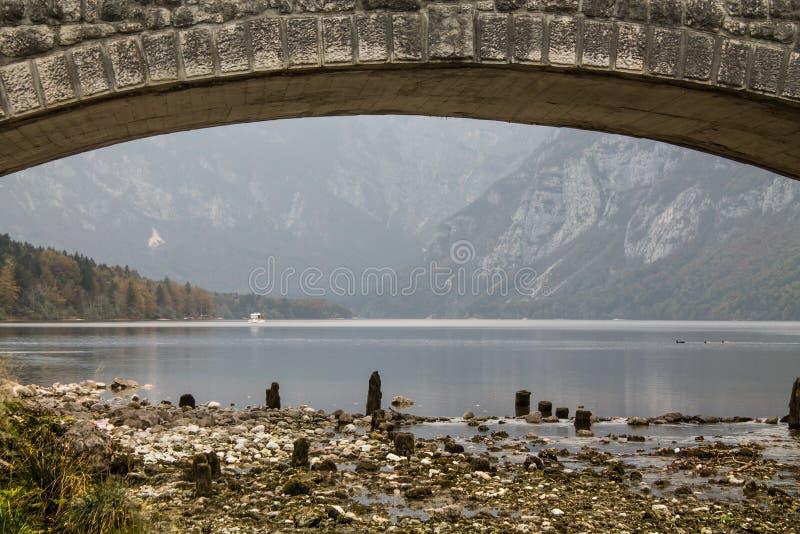 Bohinj lake (Slovenia) stock images