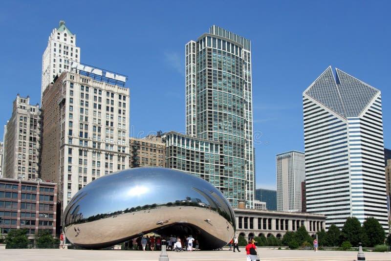 Bohnen-Skulptur in Chicago stockbild