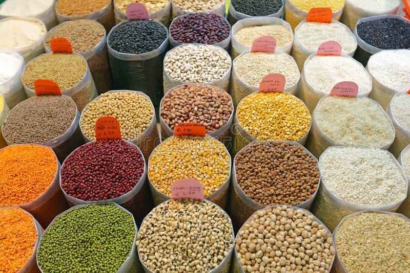 Bohnen und Reis stockbild