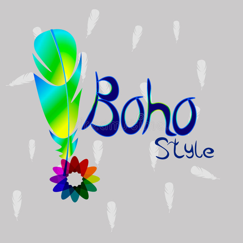 boho明亮的样式  免版税库存照片