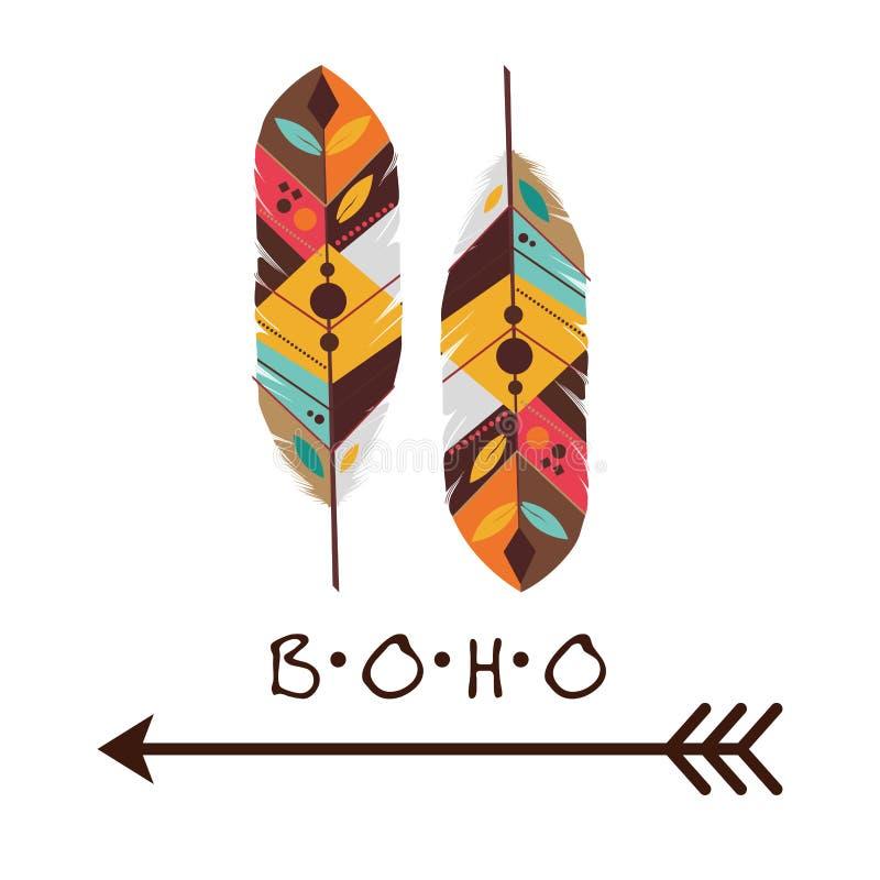Boho设计 皇族释放例证