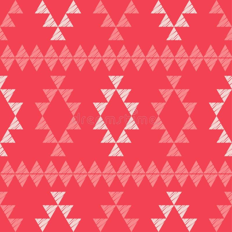 Картина этнического boho безшовная Вышивка на ткани Текстура заплатки Соткать Традиционный орнамент Племенная картина Фольклорный бесплатная иллюстрация