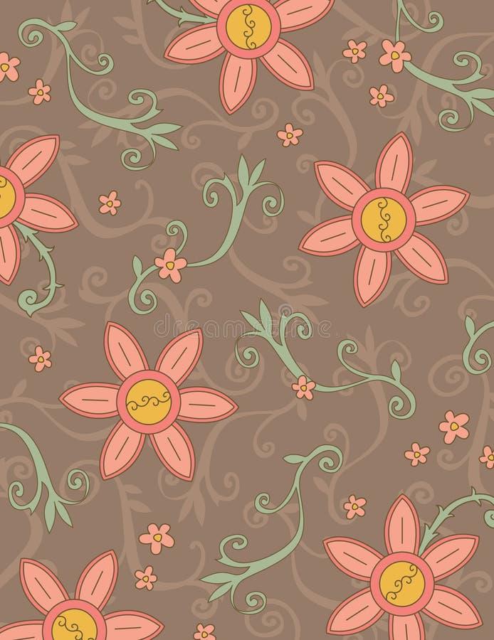 Boho Blumenmuster lizenzfreie abbildung