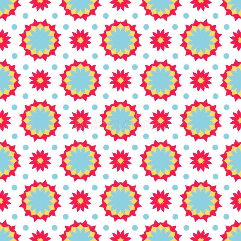 Boho chic colorful pattern stock illustration