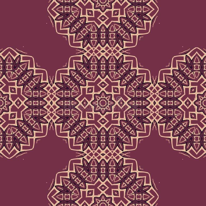 Boho deckt nahtloses Mustergewebe mit Ziegeln Bunte Patchworkdruckmöbel, Tapete, modernes Gewebe Endloses Design vektor abbildung