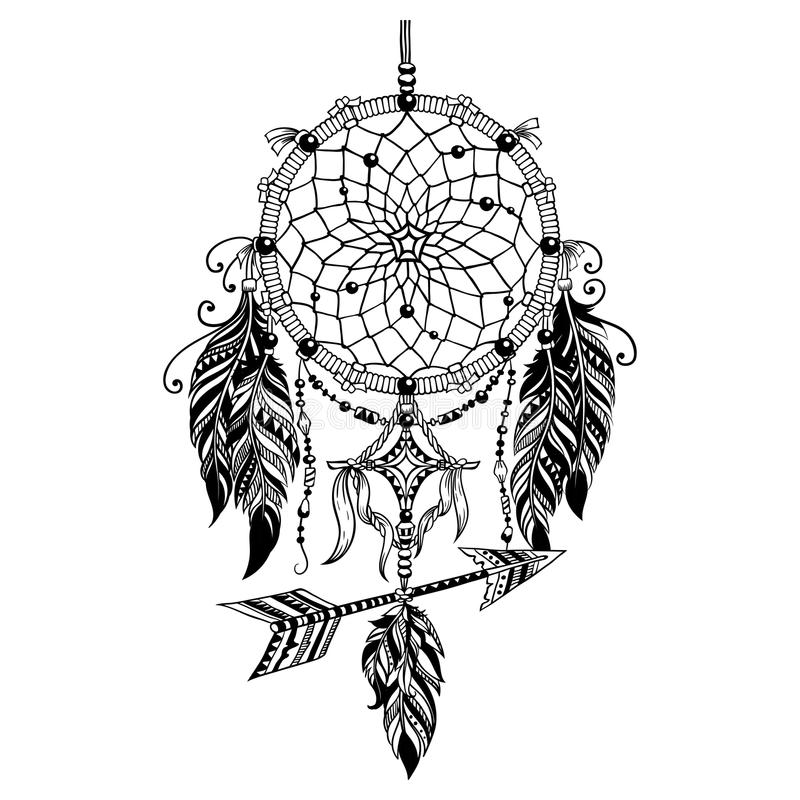 Boho Dreamcatcher и indan стиль стоковые изображения rf