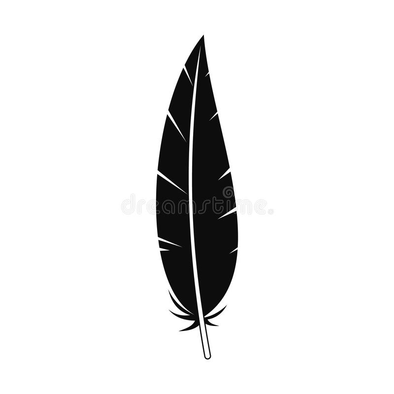 Boho feather icon, simple style royalty free illustration