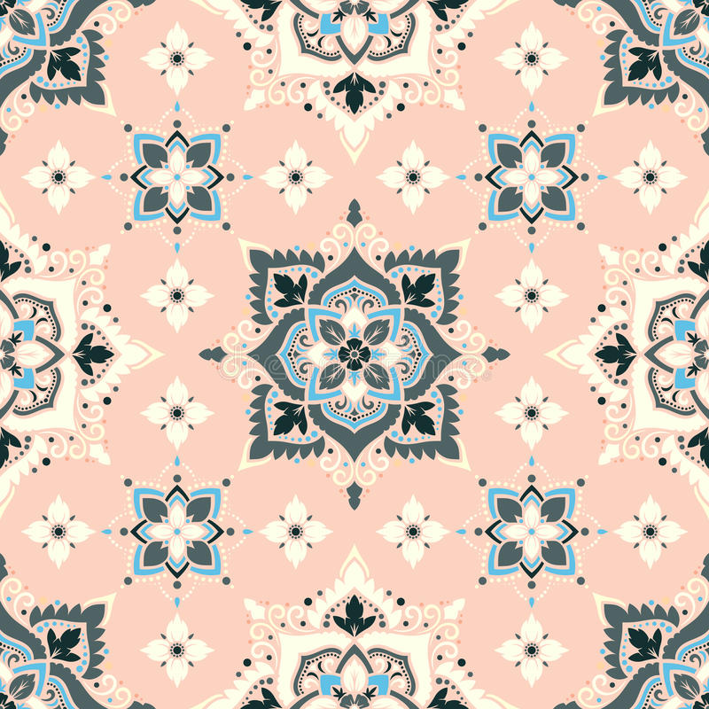 Boho Flower Pattern stock illustration