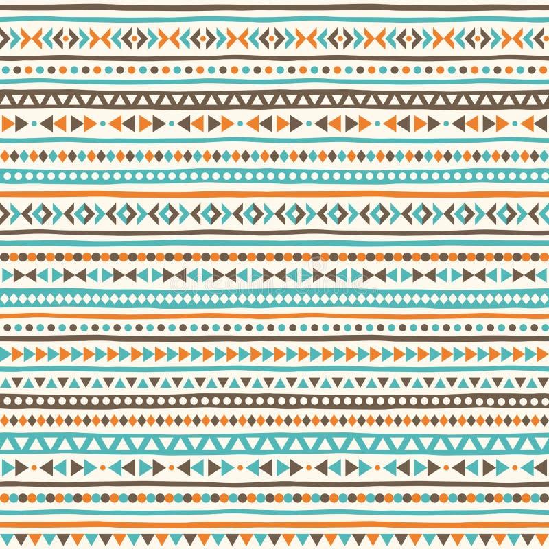 Boho geometrisk sömlös vektormodell royaltyfri illustrationer