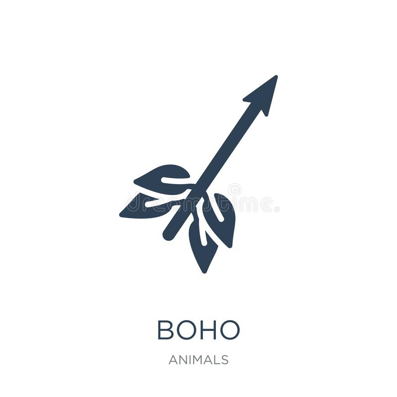 boho icon in trendy design style. boho icon isolated on white background. boho vector icon simple and modern flat symbol for web royalty free illustration