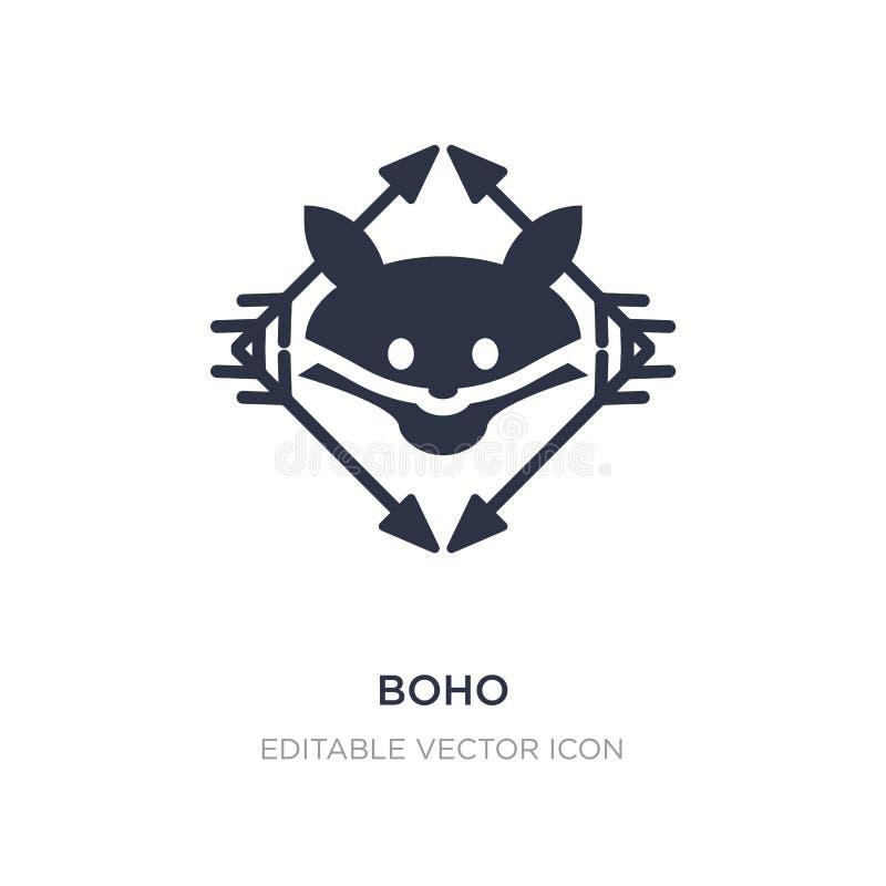 boho icon on white background. Simple element illustration from Animals concept royalty free illustration